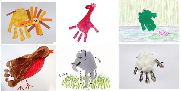 Dibujos con las manos pintadas imagui - Ninos pintando con las manos ...