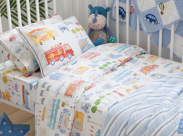 ropa cama azul